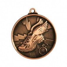 Athletics Heavy Two Tone Medal - Bronze
