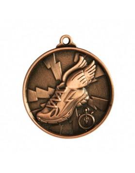 Athletics Heavy Two Tone Medal - Bronze