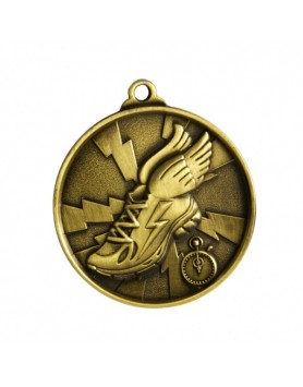 Athletics Heavy Two Tone Medal - Gold