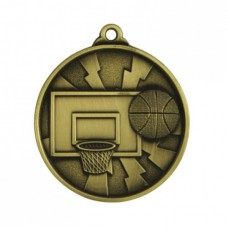 Basketball Heavy Two Tone Medal 50mm - Gold