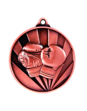 Medal - Two Tone Boxing Bronze