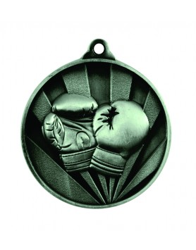 Medal - Two Tone Boxing Silver
