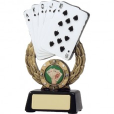 Cards on Wreath Resin Trophy 150mm