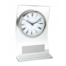 Clock Clear Glass 185mm