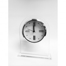 Clock Domed Frosted Glass 155mm