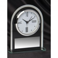 Clock Domed Black 160mm