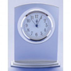 Clock White Glass/Stainless Steel 180mm