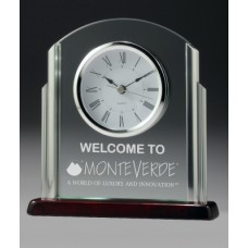 Clock 10mm Glass with Chrome Trim 190mm