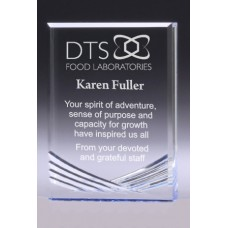Acrylic 24mm Award with Blue Tint 125mm