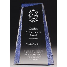 Acrylic 29mm Award with Blue Tint 140mm