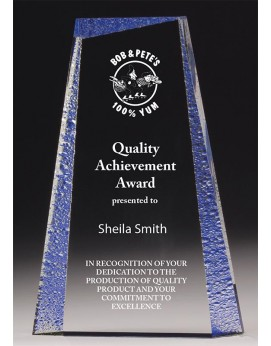 Acrylic 29mm Award with Blue Tint 230mm