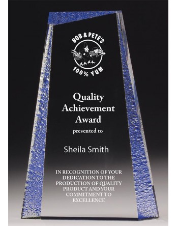 Acrylic 29mm Award with Blue Tint 190mm