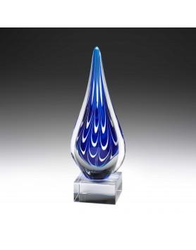 Art Glass Cumulus Teardrop on Crystal Base 250mm