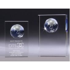 Crystal Globe Block Award 115mm