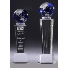 Crystal Globe Pedestal Phoenix Award 220mm