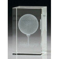 Golf Crystal Block 3D 80mm