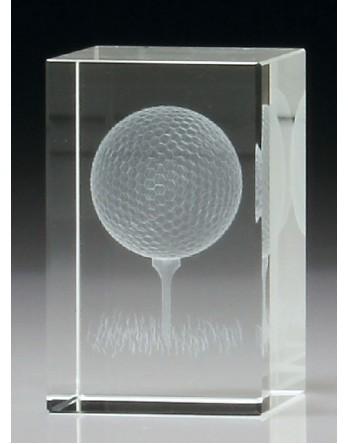Golf Crystal Block 3D 80mm