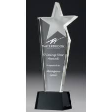 Crystal 20mm Pinnacle Star Award 240mm