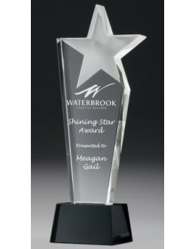 Crystal 20mm Pinnacle Star Award 240mm