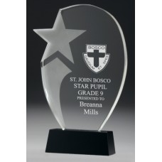 Crystal 20mm Premier Star Award 260mm