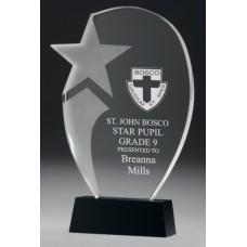 Crystal 20mm Premier Star Award 260mm