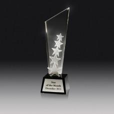 Crystal 20mm Stars Award 270mm