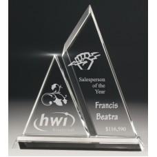 Crystal 20mm Double Peak Award 235mm