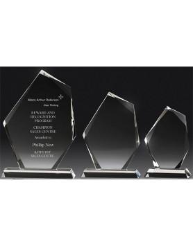 Crystal 16mm Peak Award 175mm