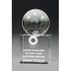Crystal Globe Spinning Award 110mm