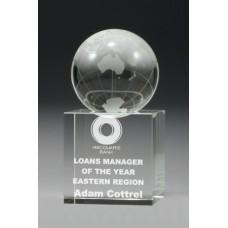 Crystal Globe Spinning Award 110mm