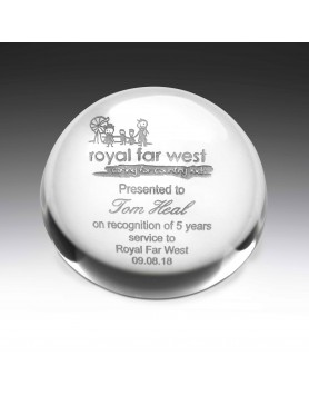 Crystal Forever 78mm Paperweight