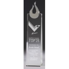 Crystal 50mm Tapered Award with Chrome Trim 260mm