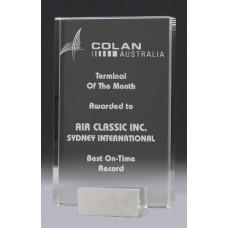 Crystal 30mm Condor Award with Chrome Base 215mm