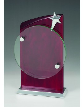 Rosewood & Glass Star Award 230mm