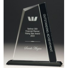 Glass Peak Award with Black Panel 180mm