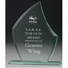 Jade Glass Scallop Award 180mm