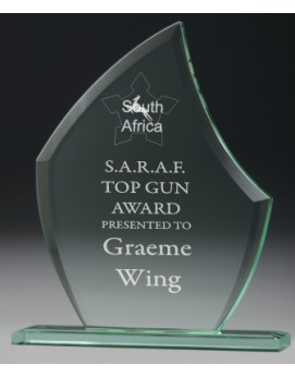Jade Glass Scallop Award 240mm