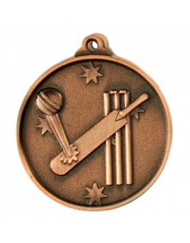 Cricket Heavy Stars Medal 50mm - Bronze