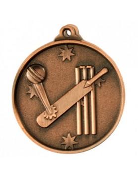 Cricket Heavy Stars Medal 50mm - Bronze