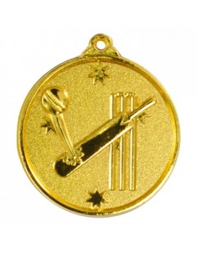 Cricket Heavy Stars Medal 50mm - Gold