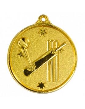 Cricket Heavy Stars Medal 50mm - Gold