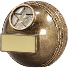 Cricket Ball Resin Trophy 72mm