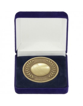 Cricket 3D Prestige Series Medal/Coin 70mm - Gold