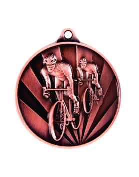 Medal - Two Tone Cycling Bronze