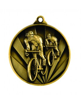 Medal - Two Tone Cycling Gold