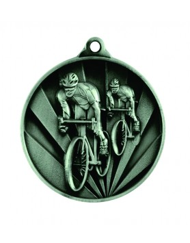 Medal - Two Tone Cycling Silver