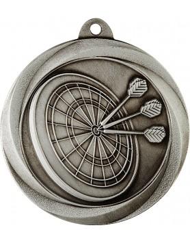 Medal - Darts Silver 50mm