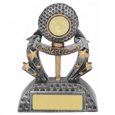 Golf Longest Drive Trophy 140mm