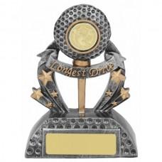 Golf Longest Drive Trophy 140mm