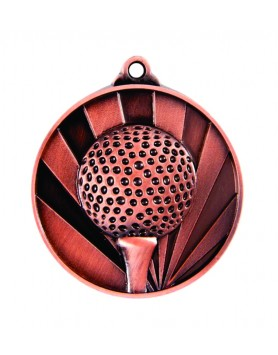 Medal - Two Tone Golf Bronze